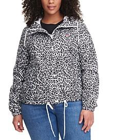 Trendy Plus Size Active Rain Slicker Jacket