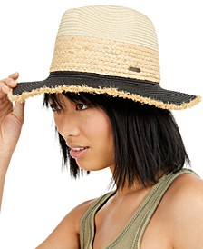 Straw Colorblocked Panama Hat