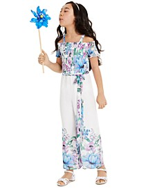 Big Girls Floral Chiffon Jumpsuit