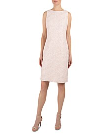 Metallic-Jacquard Sheath Dress