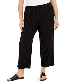Plus Size Straight-Leg Ankle Pants