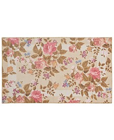 "Watercolor Floral 20""x 34"" Accent Rug"