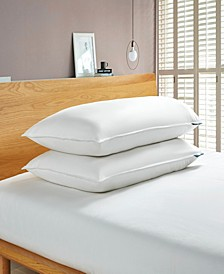 White Goose Feather And Down Fiber Bed Pillow-Back Sleeper - 2 Pack, King