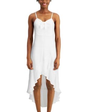 Juniors' Ruffled High-Low Dress
