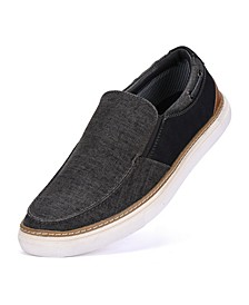 Men's Canvas Slip-on Boat Shoes