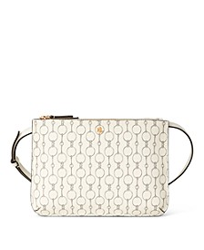 로렌 랄프로렌 Lauren Ralph Lauren Pebble Grain Medium Carter Crossbody,Vanilla Mini Chain Link/Gold