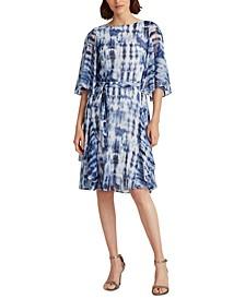 Petite Tie-Dye Georgette Dress