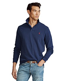 Men's Classic Fit Long Sleeve Mesh Polo