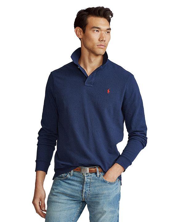 Polo Ralph Lauren Men's Classic Fit Long Sleeve Mesh Polo
