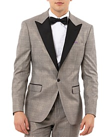 Men's Slim-Fit Valhalla Plaid Tuxedo  Jacket