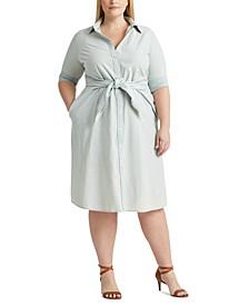 Plus-Size Chambray Shirtdress