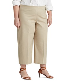 Plus-Size Cotton Wide-Leg Pants