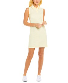 Sleeveless Cotton Piqué Polo Dress
