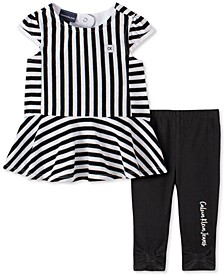Baby Girls Striped Tunic Legging Set