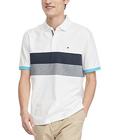 Men's Classic-Fit Brooks Colorblocked Stripe Polo Shirt