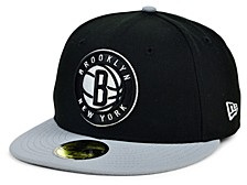 Brooklyn Nets Men's Pennant Patch Fitted Cap