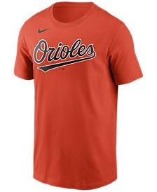Baltimore Orioles Men's Swoosh Wordmark T-Shirt