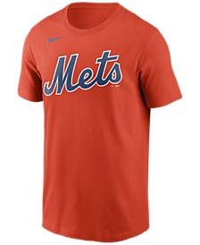 New York Mets  Men's Swoosh Wordmark T-Shirt