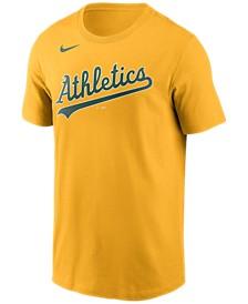 Oakland Athletics  Men's Swoosh Wordmark T-Shirt