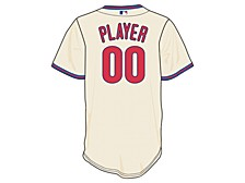 Philadelphia Phillies Men's Official Blank Replica Jersey