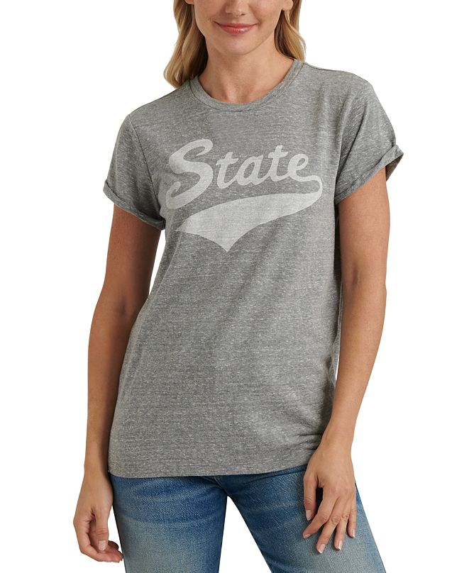 Lucky Brand State Graphic Cuffed-Sleeve T-Shirt