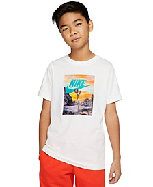 Big Boys Desert Logo Cotton T-Shirt