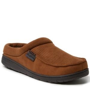 Men's Brendan Perforated Microsuede Moc Toe Clog Slippers Men's Shoes