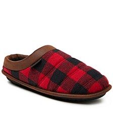 Men's Quilted Clog Slippers