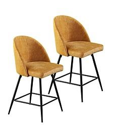 Gillum Upholstered Barstools 2 Piece Set