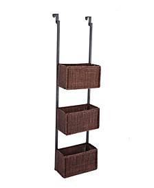 Brielle Over The Door 3-Tier Basket Storage