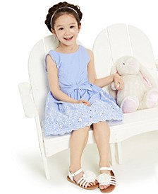 Toddler Girls Embroidered Eyelet Dress