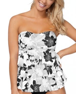 Aloha Bloom Printed Tiered Tankini Top
