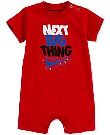 Baby Boys Short Sleeve Logo Romper