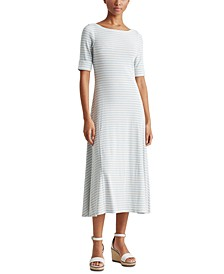 Fit-And-Flare Maxi Dress