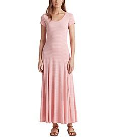 Cotton-Blend Maxi Dress
