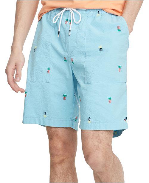 Tommy Hilfiger Men S Pineapple Print Seersucker 9 Shorts