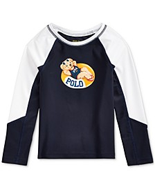 Toddler Girls Polo Bear Stretch Rash Guard