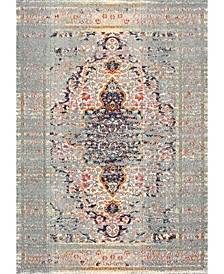 Casablanca Distressed Persian Sarita Gray 3' x 5' Area Rug