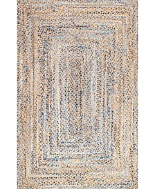 Dune Road Hand Braided Eliz Blue 4' x 6' Area Rug