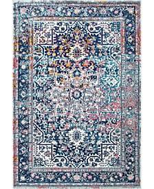 Bodrum Persian Vintage-Inspired Raylene Blue 8' x 10' Area Rug