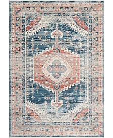 Delicate Derya Persian Vintage-Inspired Blue Area Rug