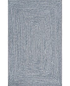 "Texture Braid Doutzen Indoor and Outdoor Blue 7'6"" x 9'6"" Area Rug"