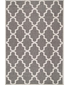 "Dawn Gina Moroccan Gray 3'3"" x 4'11"" Area Rug"