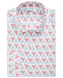Men's Slim-Fit Performance Stretch Rising Sun Ocean-Print Dress Shirt, Created for Macy's