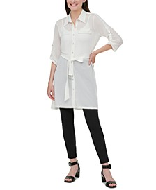 Belted High-Low Tunic