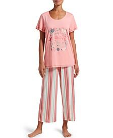 Women's T-Shirt & Capri Pants Pajama Set