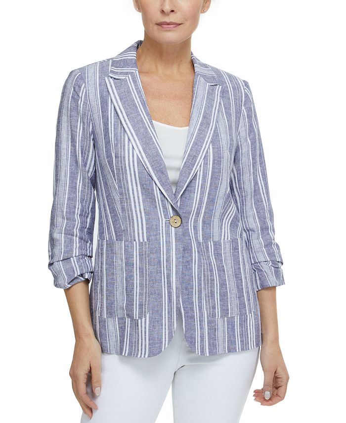 Laundry by Shelli Segal - Ruched-Sleeve Blazer
