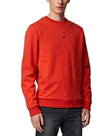 BOSS Men's Wash Dark Orange Sweatshirt