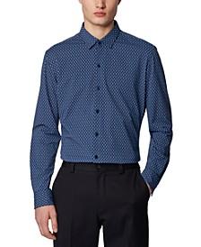 BOSS Men's Robbie_F Open Green Shirt