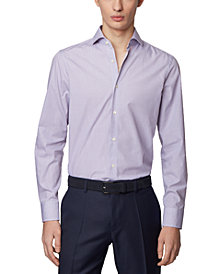 BOSS Men's Mark US Dark Purple Shirt